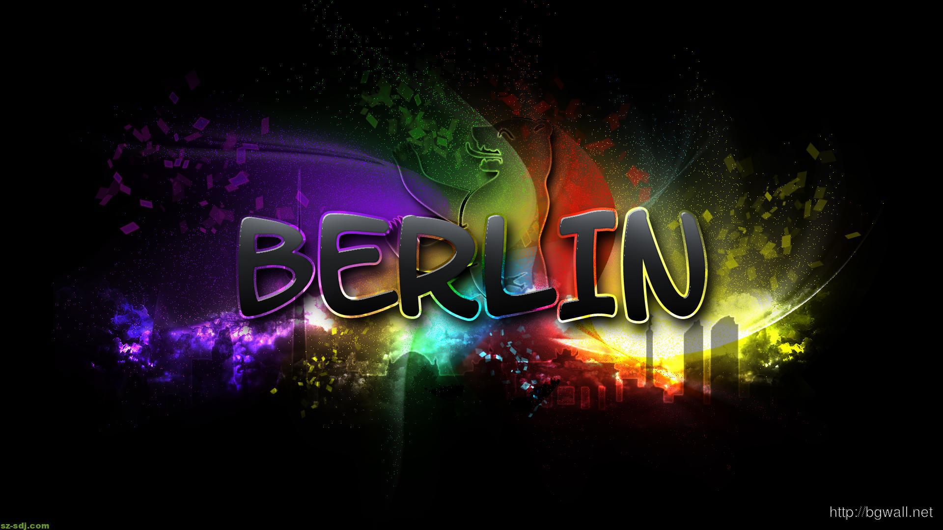 Cool Berlin Text Abstract Wallpaper Widescreen Desktop Hd