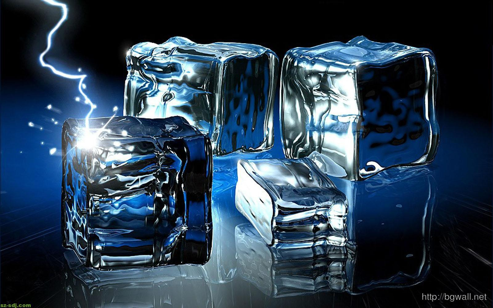 Crystal Ice Cube 3d Wallpaper