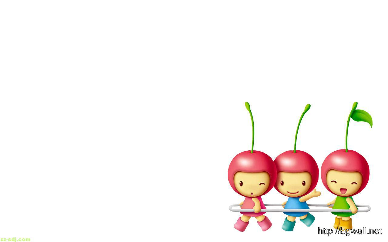 Cute cherry cartoon wallpaper background wallpaper hd for Wallpaper home cartoon
