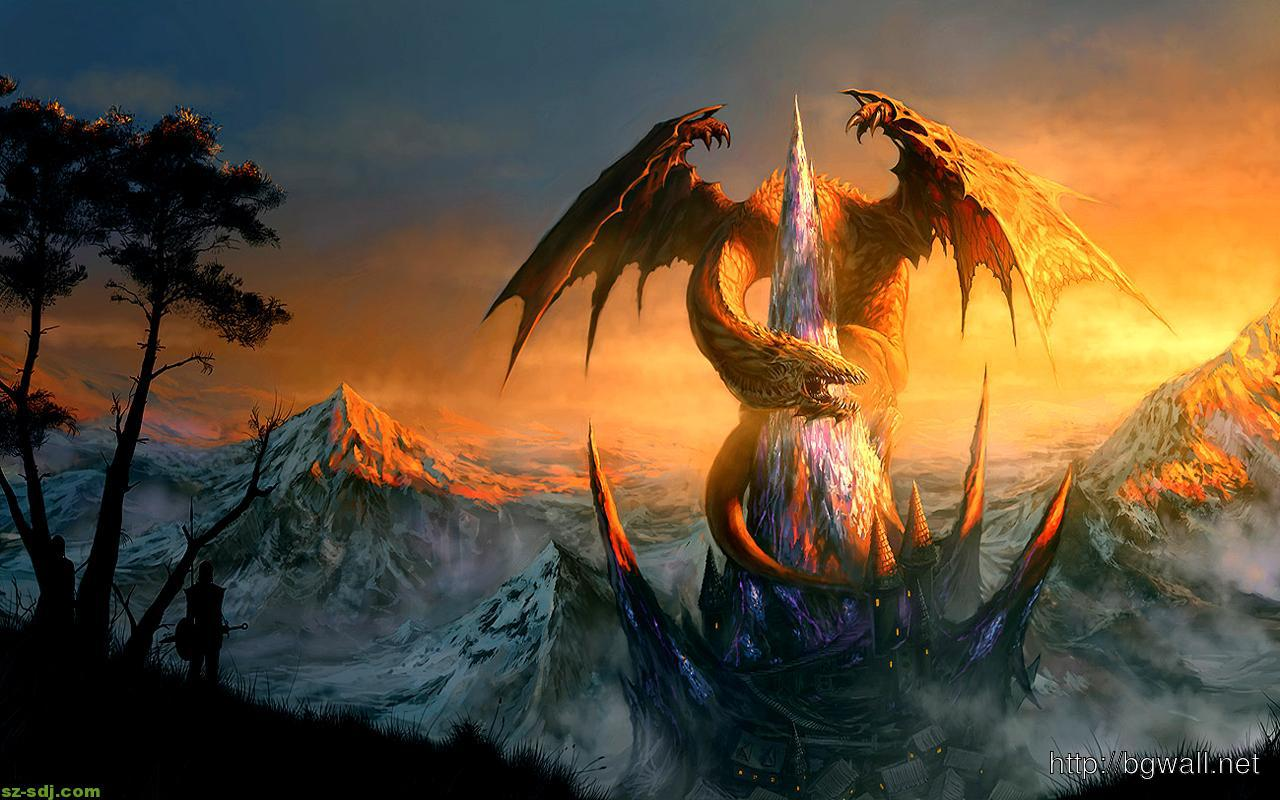 dragon-at-mount-wallpaper-hd