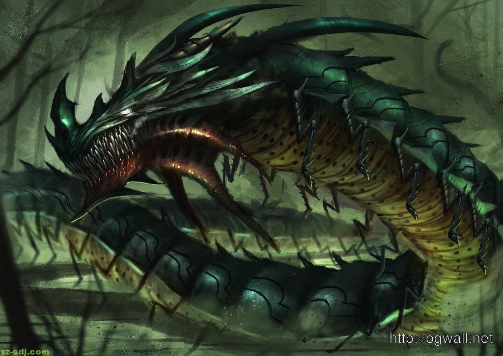 dragon-monster-centipede-wallpaper-high-resolution