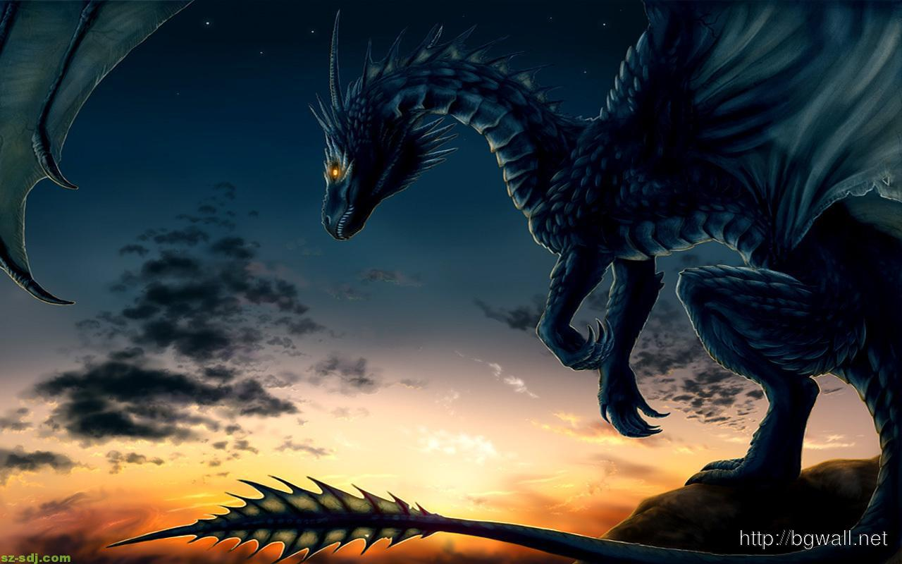 Dragon on Sunset - NeatoShop |Dragons And Sunsets