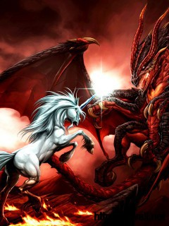 dragon-vs-horse-white-wallpaper