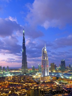 dubai-city-with-burj-khaifa-tower-wallpaper-wide-hd