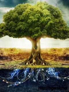electronic-tree-art-wallpaper-hd