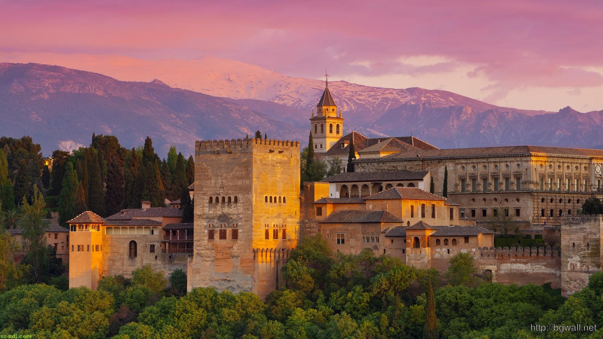 Evening At Alhambra Spain Wallpaper Widescreen Hd