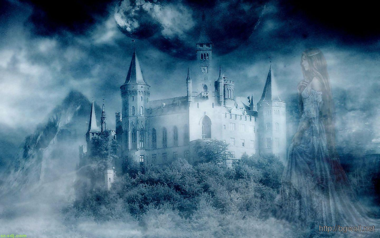 Fantasy Castle Cartoon Wallpaper