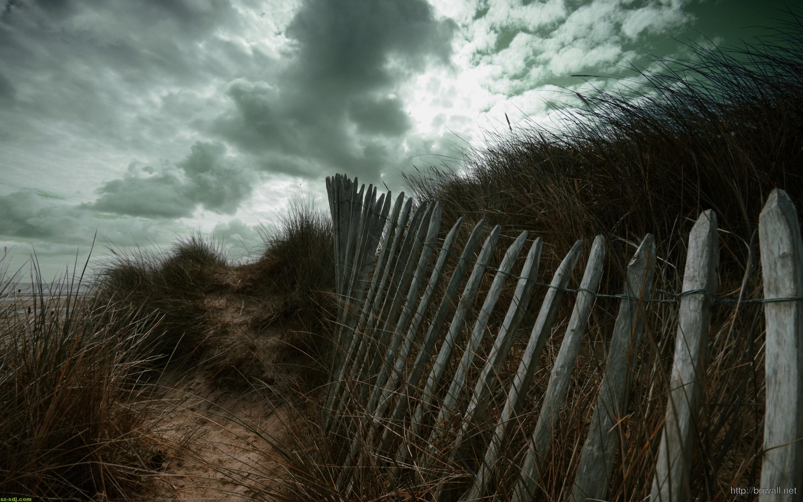 fence-at-the-beach-wallpaper-high-definition