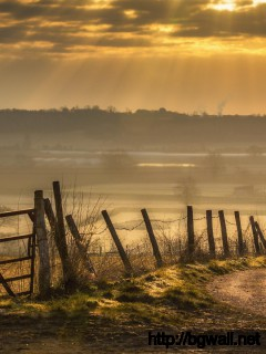 fence-sunset-nature-wallpaper-for-desktop