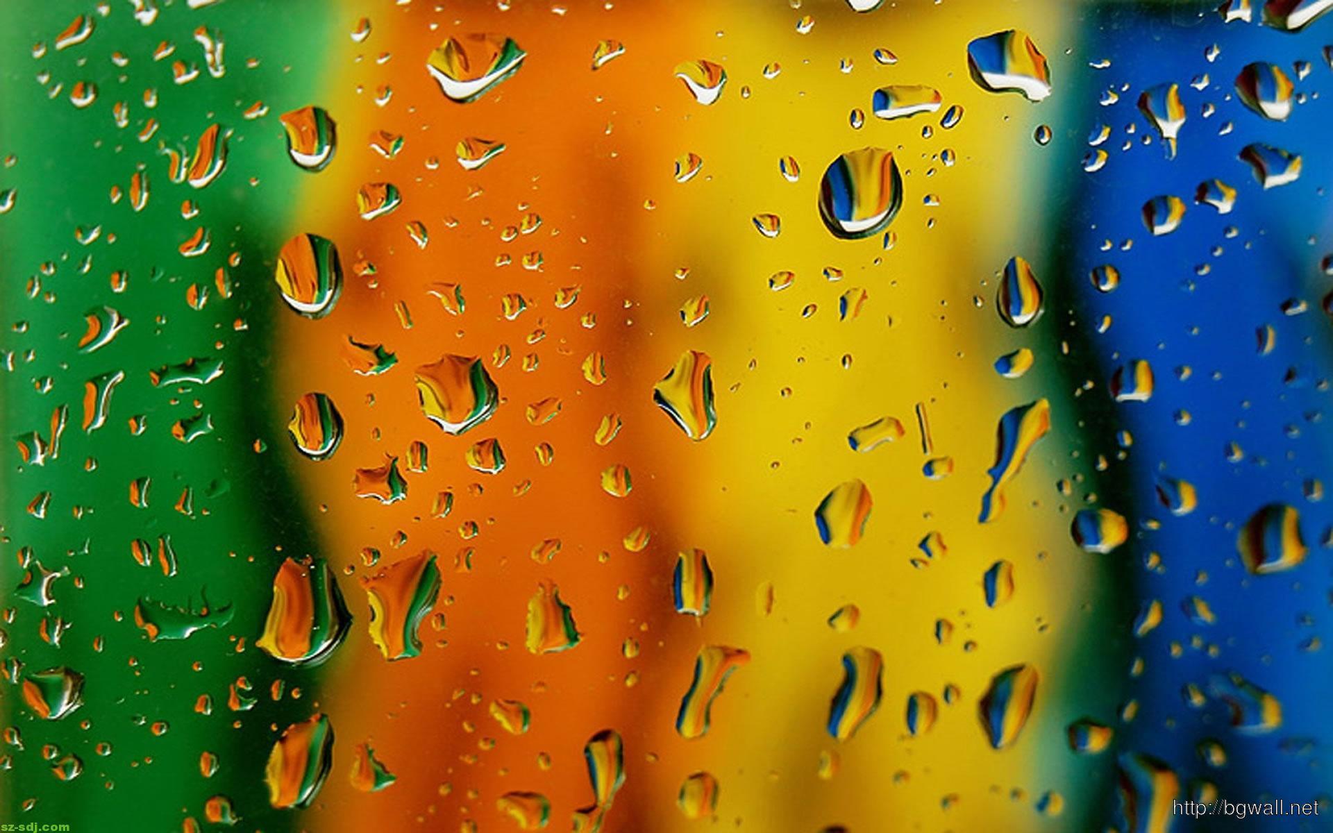 Full Color Drop Water ... Rainbow Cheetah Wallpaper