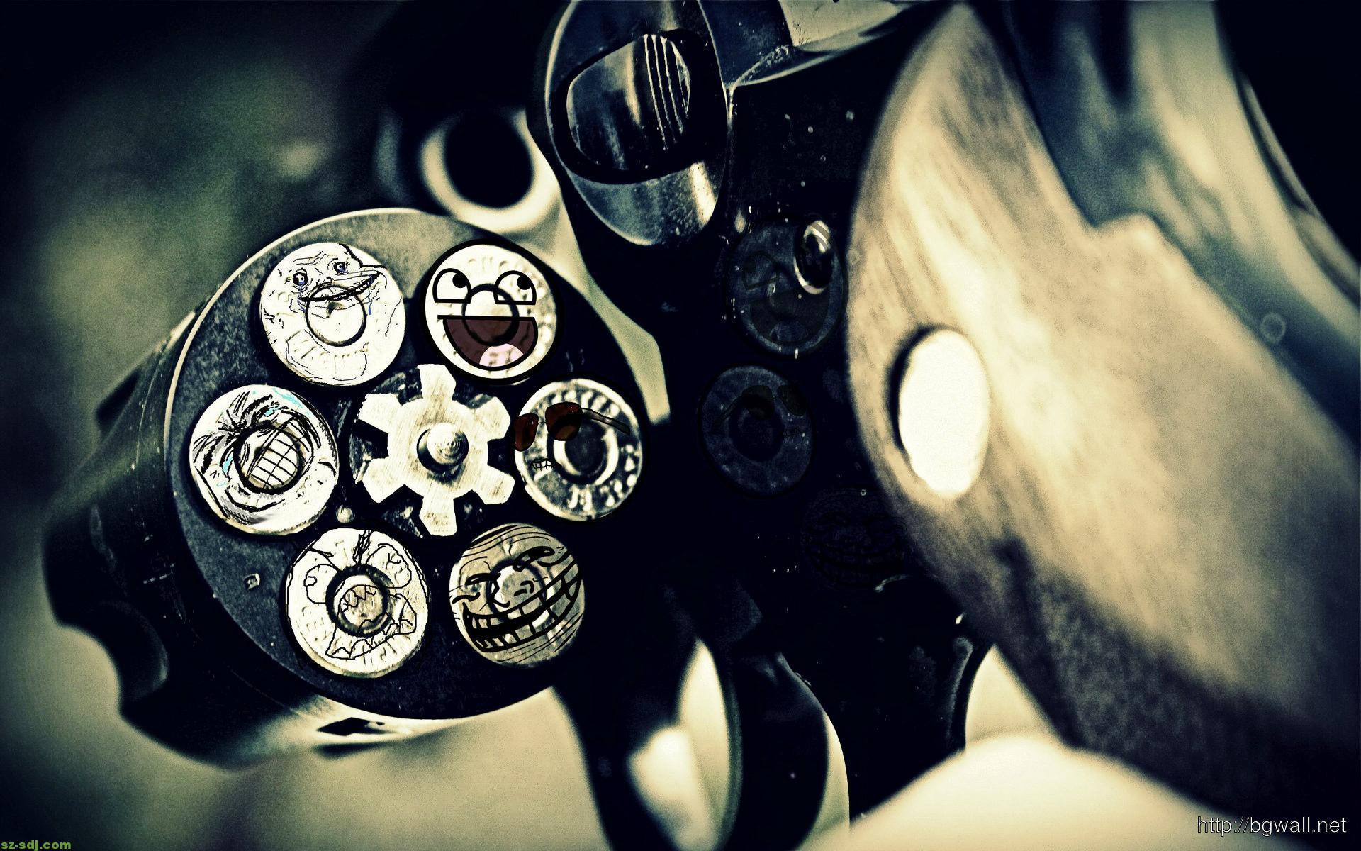 Funny Bullet Pistol Wallpaper – Background Wallpaper HD