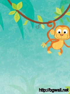 funny-cartoon-monkey-hanging-on-the-tree-wallpaper-hd