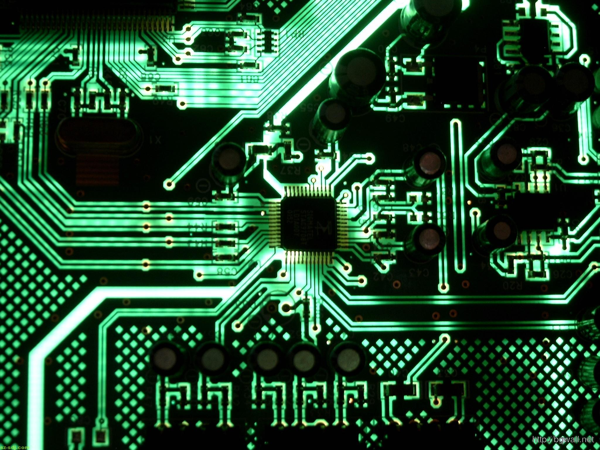 Green Motherboard Circuit Wallpaper Image Hd – Background ...