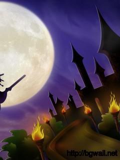 halloween-witch-castle-wallpaper-wide-