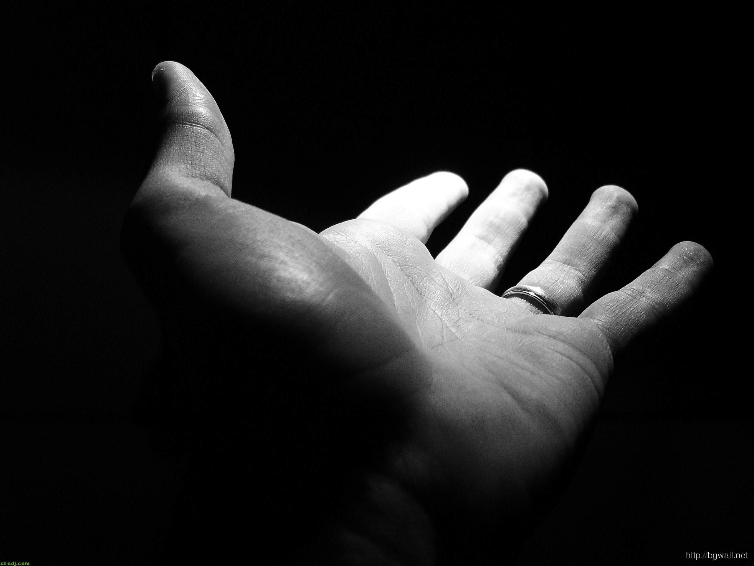 Hand On The Dark Wallpaper Background Hd