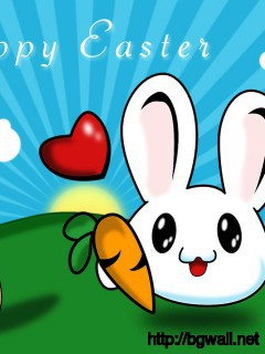 happy-easter-cute-bunny-wallpaper