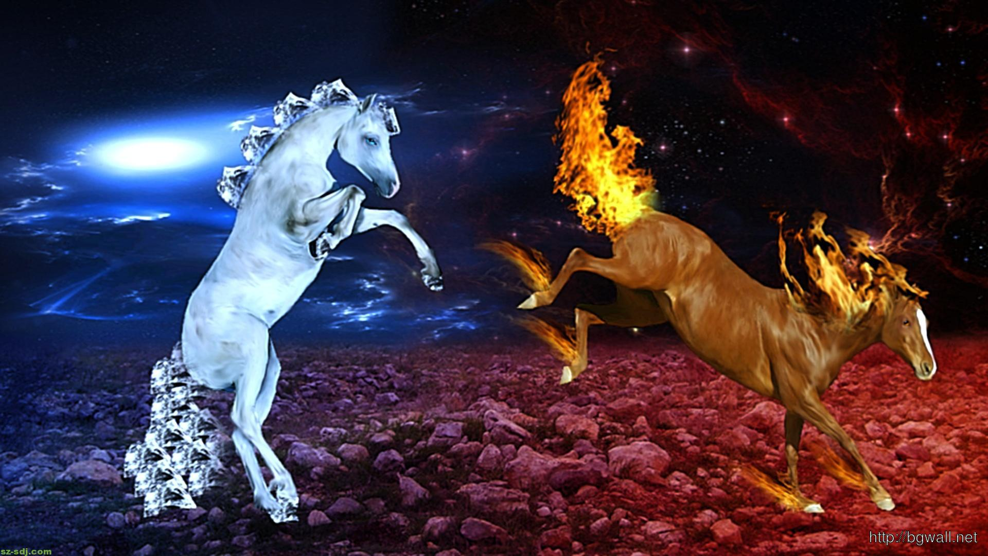 horse-ice-and-fire-cool-image-wallpaper